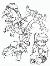 Ben Coloring Pages Alien Ultimate Ten Boys Batman sketch template