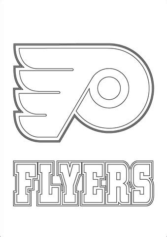 philadelphia flyers logo coloring page  printable coloring pages