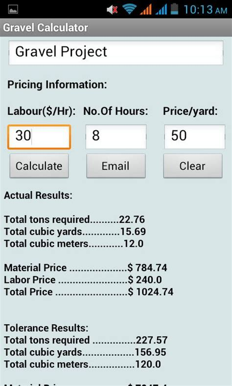Gravel Calculator  Android Apps On Google Play