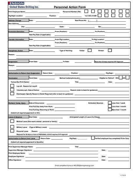 personnel action form 29 personnel form templates