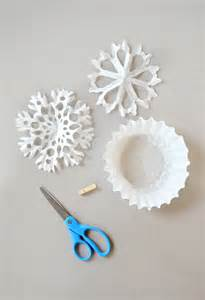 Snow Flakes From Coffee Filters
