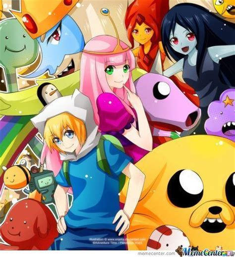 if adventure time with finn and jake was an anime by