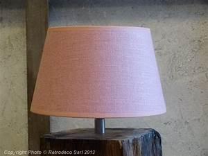 Abat Jour Rose : abat jour lin rose tendre 20cm chehoma 9700rt20 ~ Teatrodelosmanantiales.com Idées de Décoration