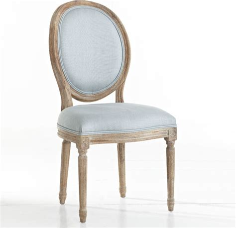 louis xvi dining chair blue traditional