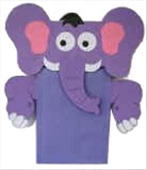 elephant paper bag puppet paper bag elephant craft 4397