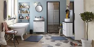 carrelage salle de bains modeles conseils marie claire With conseil carrelage salle de bain