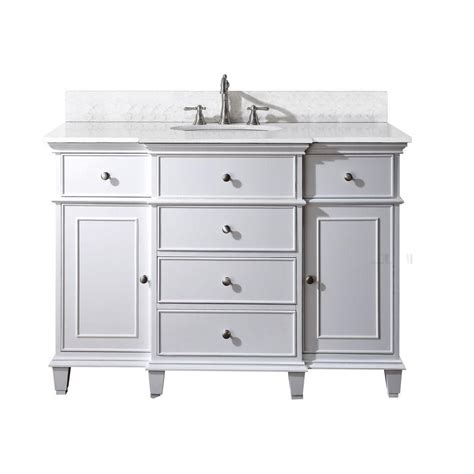 48 inch sink bathroom vanity top avanity 48 inch w vanity in white finish with