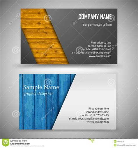 8 5x 11 business card template psd business card set stock vector image of template modern