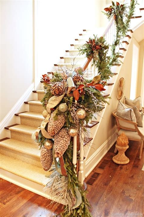 garland for stairs christmas home for the holidays atlanta home 2013 southern hospitality