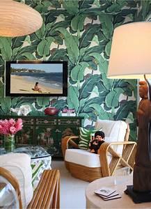 Estilo tropical con papel pintado, la jungla en casa