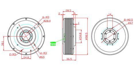 ht bldc motor  mm hollow shaft pancake motor robotdigg