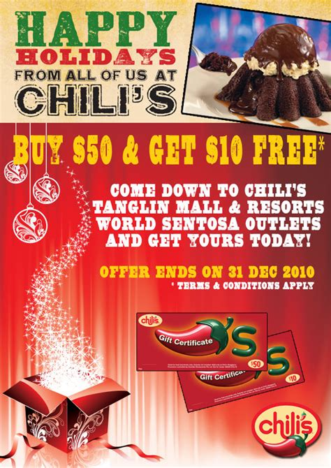 Jovanka S International Cafe December 2010 by Chili S Gift Certificate Promotion Great Deals