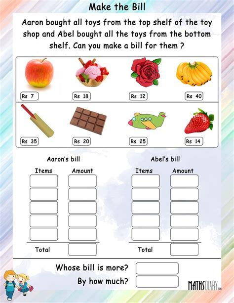 money worksheet for grade 3 in rupees yahoo india image education money