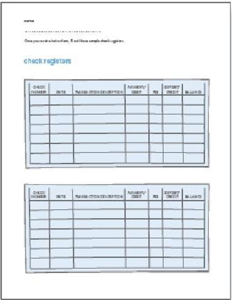 check register worksheet worksheets releaseboard free