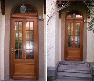 creation portes et portails en bois menuiserie rosenblatt With porte en bois massif exterieur