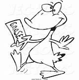 Cartoon Goose Ticket Coloring Drawing Vector Golden Walking Outlined Getcolorings Getdrawings Leishman Ron sketch template