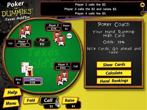 Poker For Dummies> Ipad, Iphone, Android, Mac & Pc Game