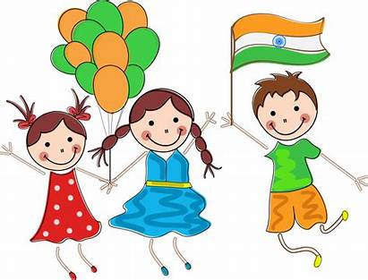 Republic Indian Clipart India Independence Drawing Child
