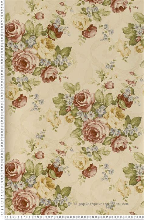 Tapisserie Fleurs by Bouquets De Fleurs Beiges Papier Peint Lut 232 Ce