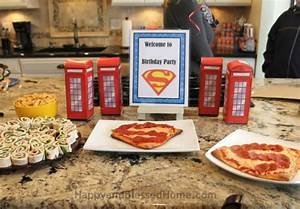 Superman Birthday Party - Happy and Blessed Home