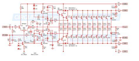 Audio High Power Amplifiers Circuit Diagram