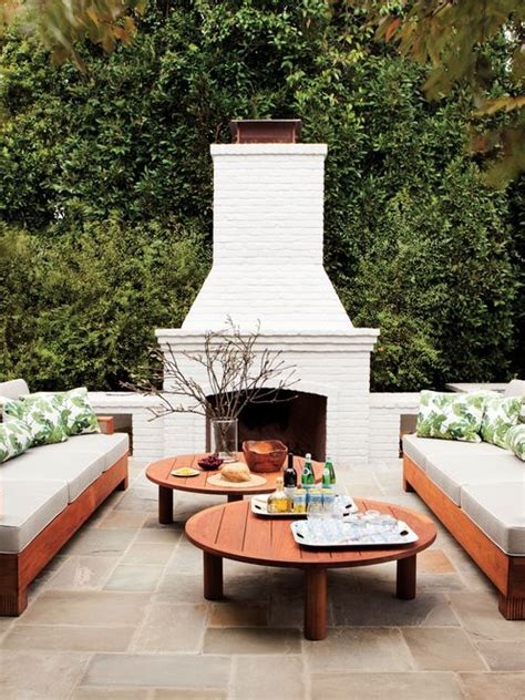 gorgeous outdoor fireplaces    terrace