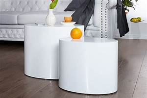 Beistelltisch Set Weiß : beistelltisch division 2er set weiss 20924 3518 ~ Frokenaadalensverden.com Haus und Dekorationen