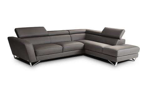 Gray Modern Sofa by Athena Large Rsf Gray T5 Italian Leather Modern