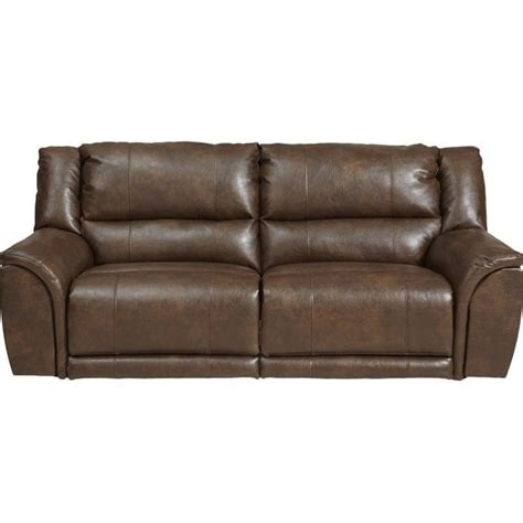 catnapper power reclining sofa catnapper carmine lay flat power reclining leather sofa in