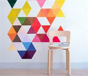 peinture decorative dessin geometrique sublimez les murs With chambre bébé design avec abonnement fleurs entreprise