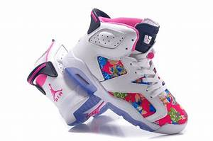 """New Air Jordan 6 GS """"Floral Print"""" White Pink For Sale ..."""