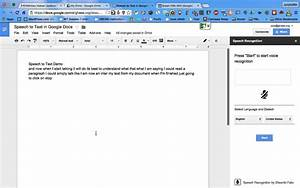 google docs speech recognition add on youtube With google docs voice dictation