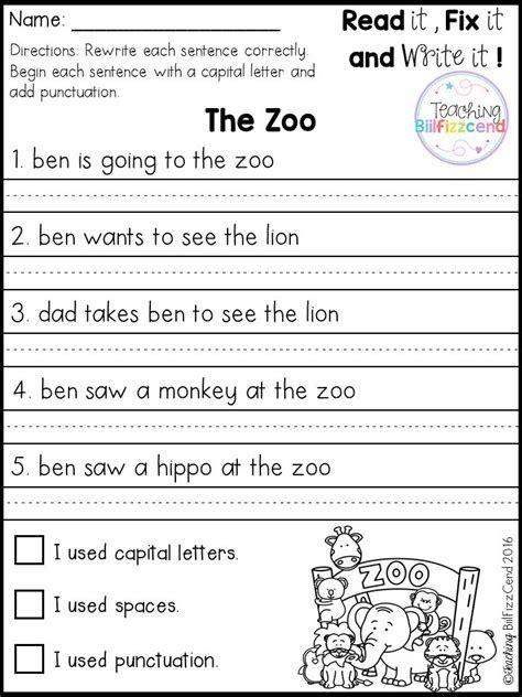 simple sentences worksheet gigi kindergarten