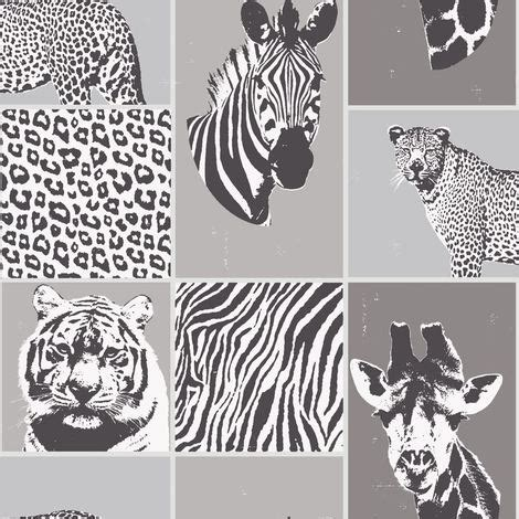 Metallic Animal Print Wallpaper - silver metallic novelty wallpaper safari animal print
