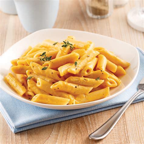 cuisine et santé pennes sauce crémeuse au parmesan et courge butternut soupers de semaine recettes 5 15