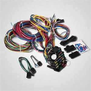 21 Circuit Wiring Harness Street Universal Wire 17 Fuses