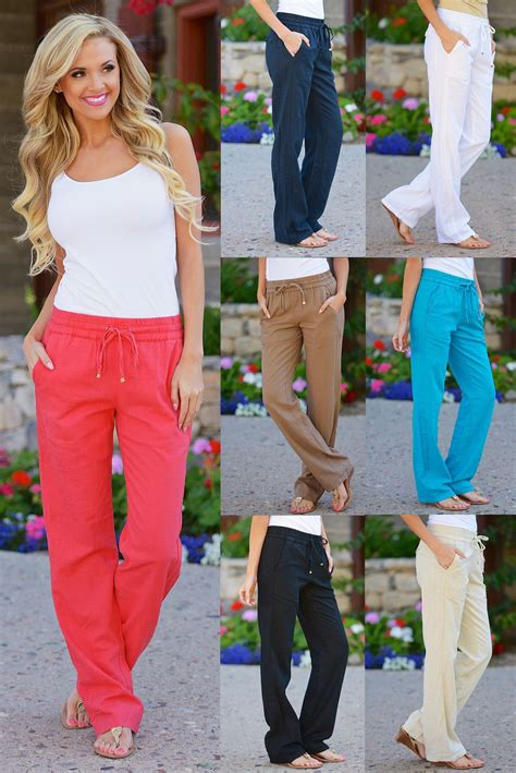Drawstring Linen Pants with Pockets from Closet Candy Boutique | Closet Candy Boutique ...