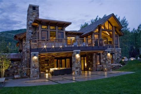 daylight basement floor plans lodge home exterior in steamboat springs concrete patio
