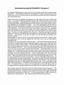 Instructions For Using The Wamadet Portapress