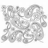 Paisley Coloring Pages Flower Pattern Designs Patterns Easy Simple Henna Sweetdreamsquiltstudio Printable Embroidery Peacock Colouring Hand Mehndi Pano Quilt Tattoo sketch template