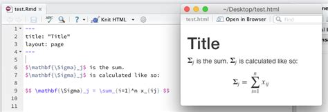 How To Use Latex Math In Rmd To Display Properly On Github Pages  Mike Love's Blog