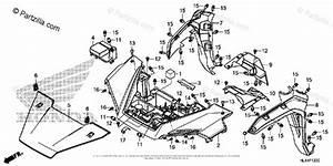 Honda Side By Side 2016 Oem Parts Diagram For Front Fender
