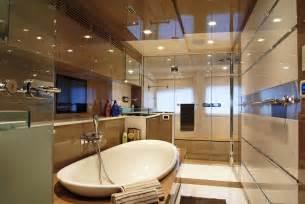 white bathroom floor tile ideas 37m superyacht has interior design by lab yacht