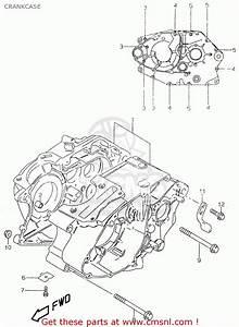 Suzuki Gz125u 1999  X   E01  Crankcase