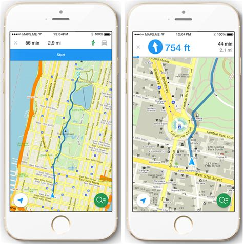 maps for iphone maps me