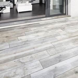 Carrelage Terrasse Exterieur : carrelage terrasse gris 20 x 120 cm rewood castorama ~ Edinachiropracticcenter.com Idées de Décoration