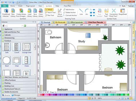 Free 2D Drawing Software Floor Plan