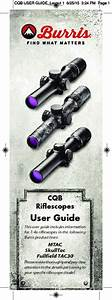 Burris Mtac Fullfield Tac30 Skulltac Manual