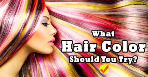 What Hair Color Should You Try?  Quiz Social