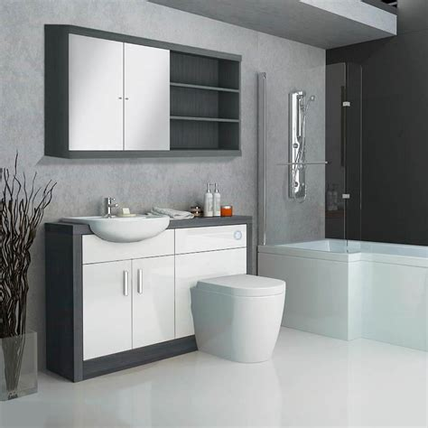 Buy Bathroom Furniture by Hacienda Fitted Furniture Pack White Buy At